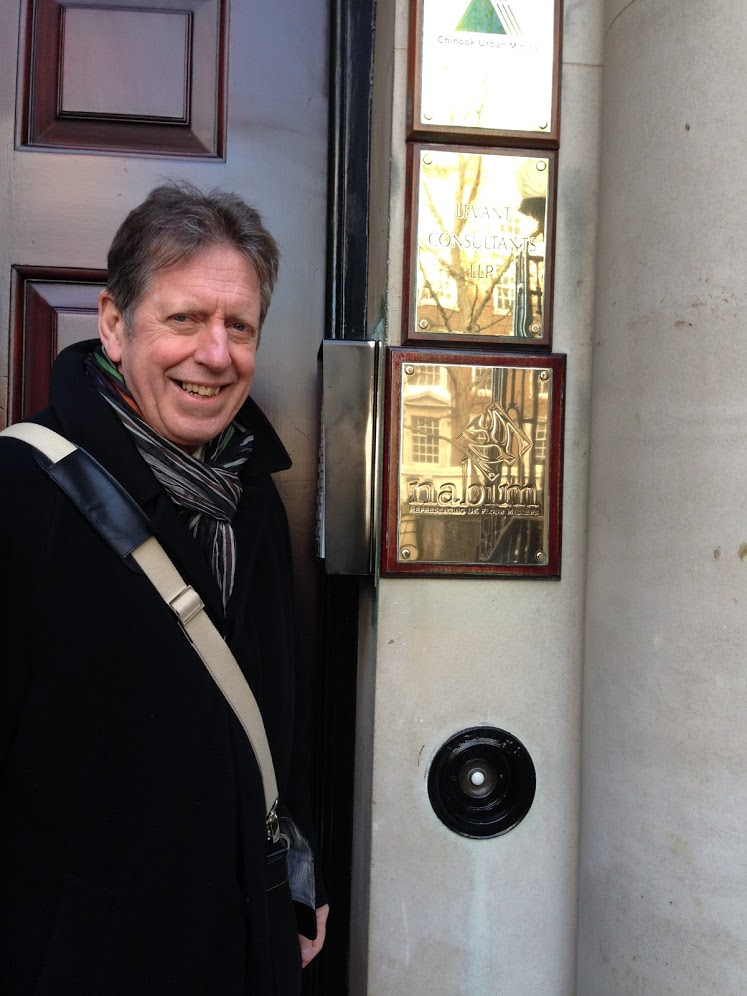 Roger Gilbert at the door of nabim
