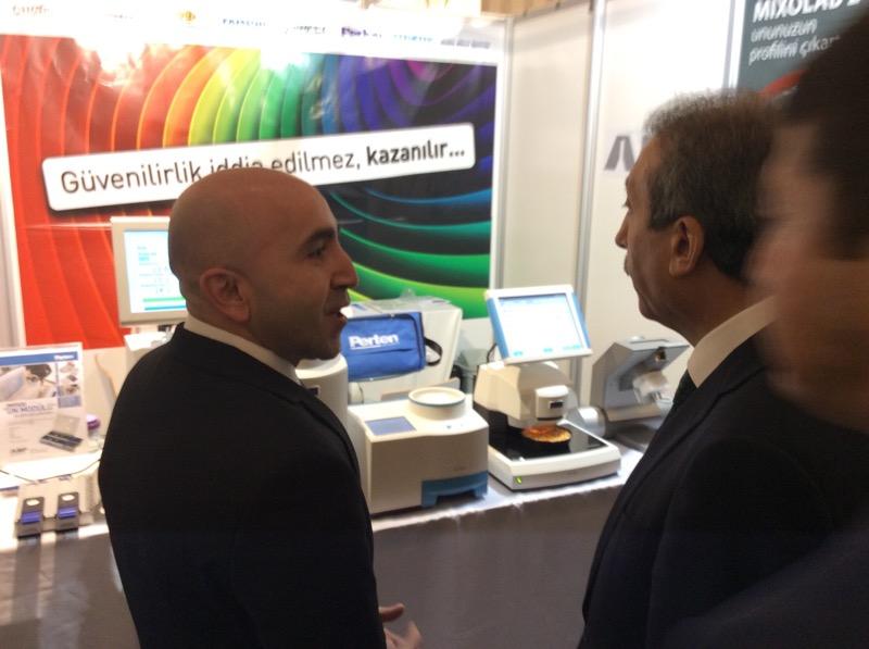 Mr Ekin walks about the 11th TUSAF 2015 trade show