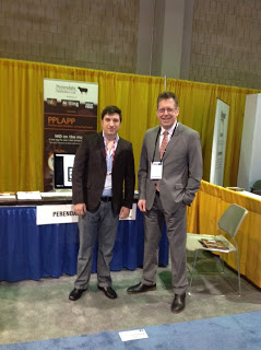 We were visited early on the opening day of IPPE (our stand 1700) by Carlos Carlos Cesar Pavesa, director and CEO of Engormix, the Latin American online news service for the feed industry.