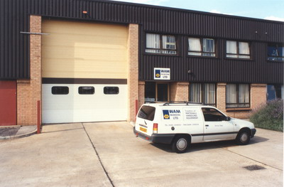 WAM UK's office, warehouse and workshop in Tewkesbury, Gloucestershire